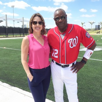 Washington Nationals manager Dusty Baker and Hannah Storm (Photo courtesy Hannah Storm/ESPN)