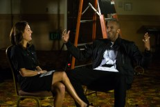 Julie Foudy interviews Kobe Bryant for the ESPN Town Hall: Kids and Sports. (Eddie Perlas/ESPN Images)