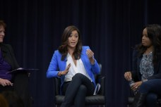 """In 2015, Northwestern alum Cassidy Hubbarth (C) was among the panelists featured in """"The Female Voice in Sports Media"""" discussion at her alma mater. (Sean Su/Daily Northwestern)"""