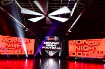The MNF kickoff video set is constructed at Marathon Music Works. (Scott Clarke/ESPN Images)