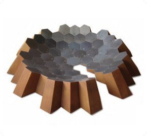 DANIELE SALVALAI, OSSERVATORIO 2011 ferro saldato 24x174x174 cm
