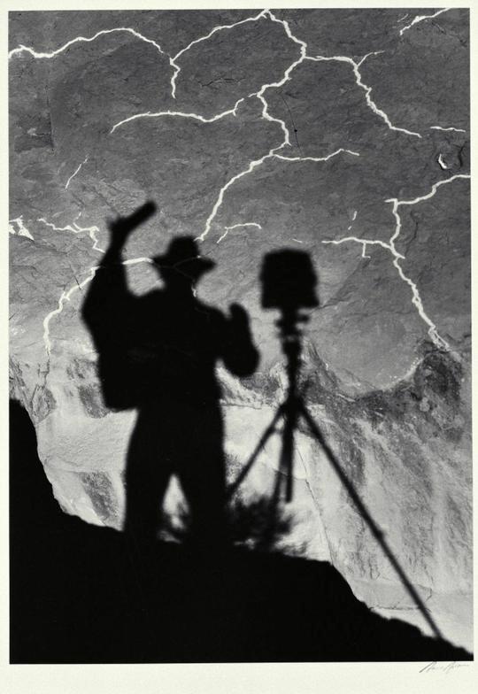 Self Portrait, Monument Valley, Utah, 1958, © 2011 The Ansel Adams Publishing Rights Trust. Courtesy Fondazione Fotografia, Modena