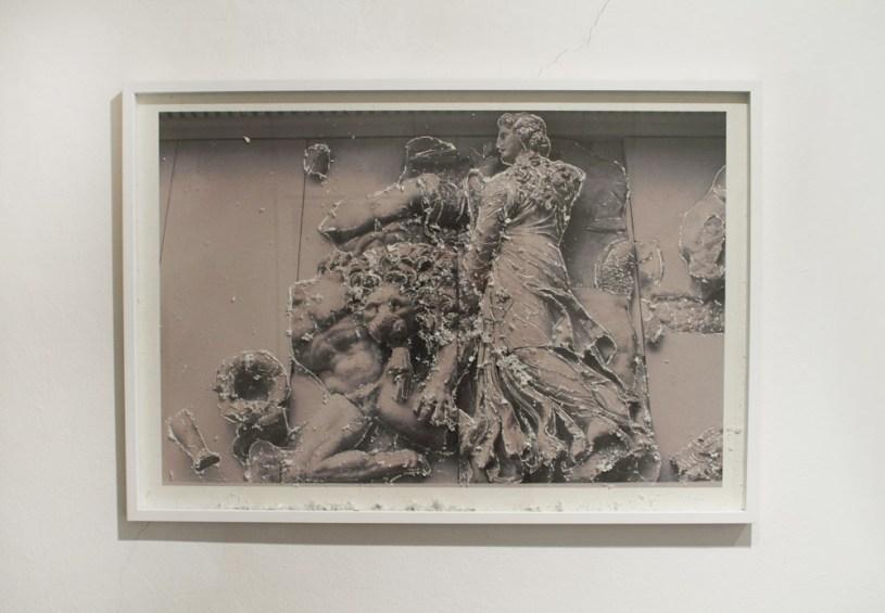 Rovine Pergamo 2, 2012 stampa fotografica su carta d'Amalfi e tecnica mista cm. 75x107