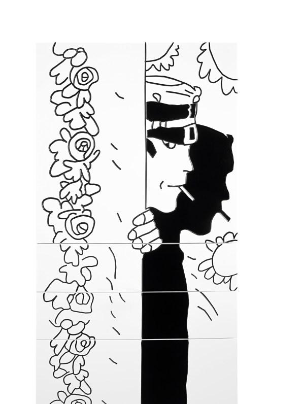 Cassettiera Rosa Alchemica-Gatti Veneziani / Chest of Drawers Rosa Alchemica-Gatti Veneziani cm 50x160x43 laccato opaco / matt lacquer   Corto Maltese® Hugo Pratt TM ©Cong Sa. Losanna