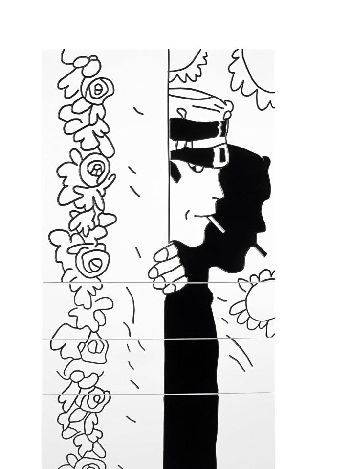 Cassettiera Rosa Alchemica-Gatti Veneziani / Chest of Drawers Rosa Alchemica-Gatti Veneziani cm 50x160x43 laccato opaco / matt lacquer | Corto Maltese® Hugo Pratt TM ©Cong Sa. Losanna
