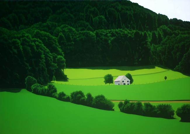 Valentina D'Amaro, Senza titolo. serie Switzerland, olio su tela, cm 85x120, 2011. courtesy Wannabee Gallery, Milano