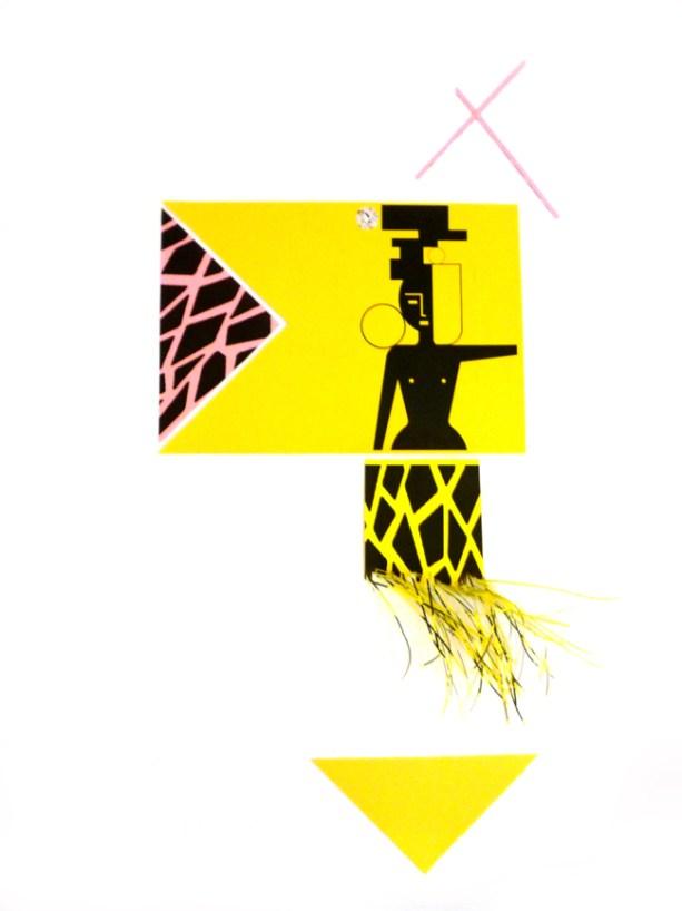 Nicola Gobbetto, Big Triangle, 2012, collage