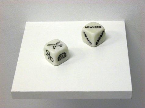 T-Yong Chung, Senza titolo, 2005, incisione sul marmo, cm 4x4x4 x2