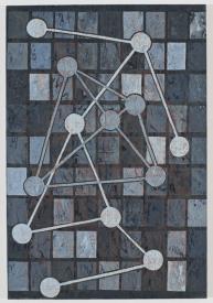 Molecole, 2008, acrilico su carta cinese intelata, cm 75x52