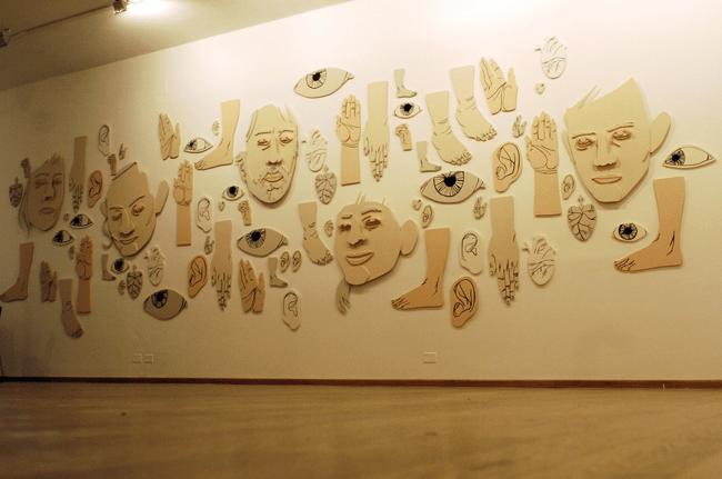 Preparazione dei lavori per la mostra COMMA Exhibition   Palazzo Penna, Perugia   Comma - Urban Art Festival