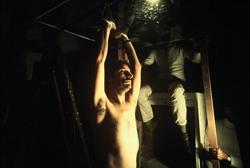 Douglas Davis, Backstage of The Florence tape: clothing, walking, lifting, leaving 1974. Photo: Gianni Melotti. Courtesy: la Biennale di Venezia