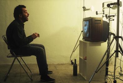 Arnulf Rainer, back stage of Slow Motion, 1974. Photo: Gianni Melotti. Courtesy: la Biennale di Venezia