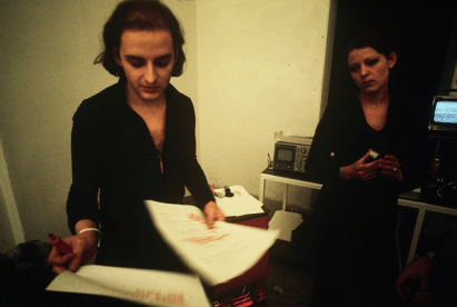 Urs Lüthi, back stage of Morire d'Amore, 1974. Photo: Gianni Melotti. Courtesy: la Biennale di Venezia