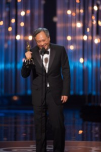 """Ang Lee accepts the Oscar® for achievement in directing for """"Life of Pi"""" during the live ABC Telecast from the Dolby® Theatre of The Oscars® in Hollywood, CA, Sunday, February 24, 2013. credit: Michael Yada / ©A.M.P.A.S."""