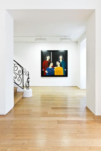 "Veduta della mostra ""Marjane Satrapi - Peintures"", 30 gennaio - 23 marzo 2013, © Galerie Jérôme de Noirmont"