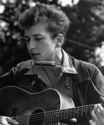 Bob Dylan durante la marcia per i diritti civili a Washington, 28 agosto 1963