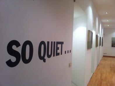 """Veduta della mostra Laura Giardino """"So Quiet..."""". © Area B, Milano"""