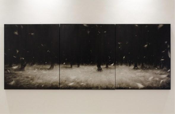 Ettore Frani, Pneuma, 2012, olio su tavola, 100x255 cm. Foto: Paola Feraiorni. Courtesy L'Ariete artecontemporanea