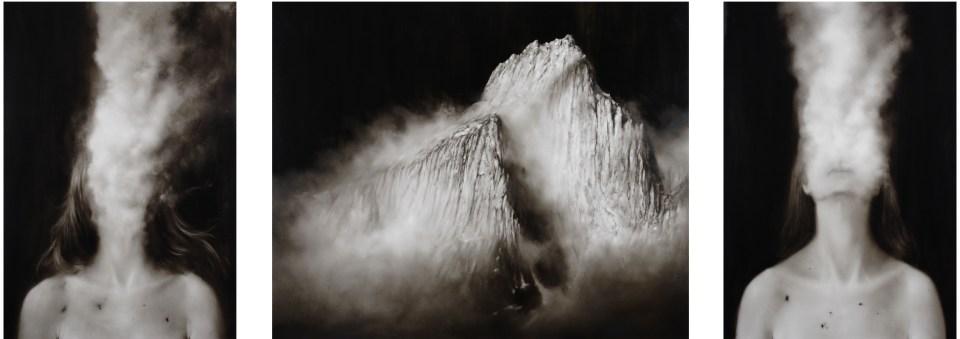Ettore Frani Fortezza (trittico), 2012, olio su tavola, cm 100x290. Foto: Paola Feraiorni. Courtesy L'Ariete artecontemporanea