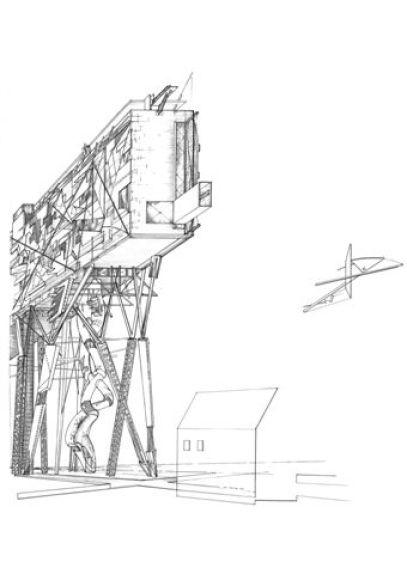 Daniel Libeskind, City Edge, 1987, 55.9x76.2 matita su pergamena