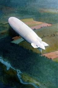 Carl Simon, Zeppelin über New Jersey, United Archives/Tips Images - La Casa di Vetro