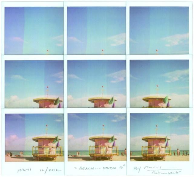 Studio Beach B, 2012, mosaico polaroid, cm 29x25
