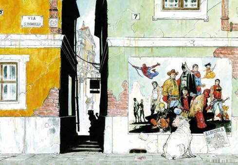 Disegno dedicato da Michele Rubini ad ALBISSOLACOMICS 2013 (cover catalogo)