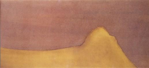 Michelangelo Antonioni, Le montagna incantate n. 153, s.d., tecnica mista, cm 27.5x59, Gallerie d'Arte Moderna e Contemporanea, Museo Michelangelo Antonioni, Ferrara