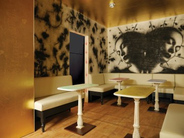 """Omar Galliani, """"Il sogno della Principessa Liu-Ji al Florian"""" (preview installazione, 30 maggio - 30 settembre 2013, Caffè Florian - Sala Cinese, Venezia"""