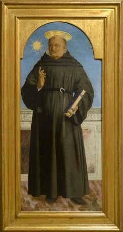 Piero della Francesca, San Nicola da Tolentino, 1464-1469, tempera e olio su tavola, cm 139.4x 59.2, Museo Poldi Pezzoli, Milano Foto Paolo Vandrash