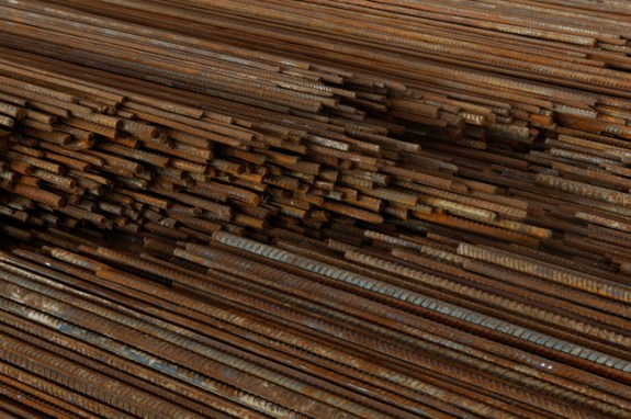Straight, 2008-2012, Steel reiforcing bars, Photo credit: Ai Weiwei