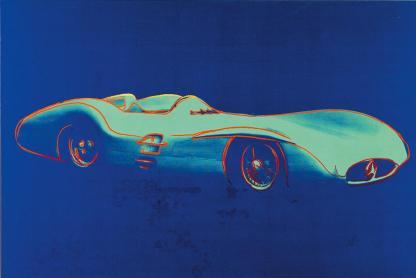 Andy Warhol, Mercedes-Benz Formel-1-Rennwagen W196 R Stromlinie Silkscreen, acrilico su tela, Daimler Art Collection Stoccarda / Berlino, acquisizione 1986