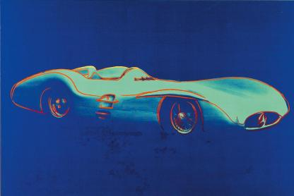Andy Warhol, Mercedes-Benz Formel-1-Rennwagen W196 R Stromlinie Silkscreen, acrilico su tela, Daimler Art Collection Stoccarda / Berlino, acquisizione 1986