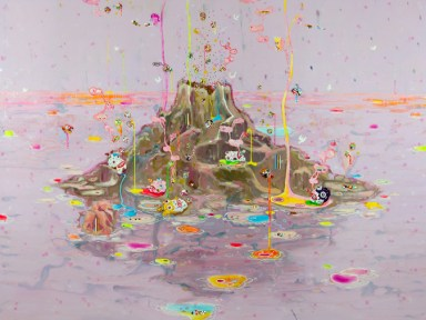 William Marc Zanghi, Vulcano, 2013, vernici su tela, 150x200 cm