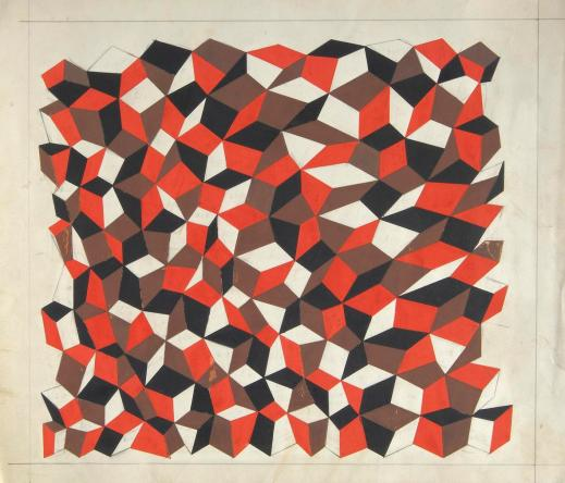 Dadamaino, False prospettive, 1967-68, tempera su carta, cm 22x37