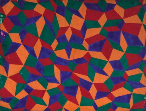 Dadamaino, Senza titolo, Anni '60, olio su cartone telato, cm 40x30