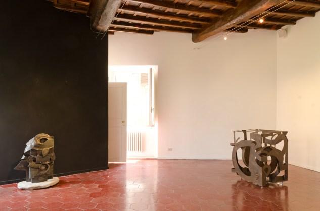 "Justin Peyser, veduta della mostra ""Channels"", Emmeotto Living Gallery, Roma"