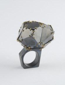 Elisabetta Duprè, anello in argento e oro