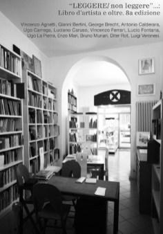 """""""Leggere/non leggere""""…: Libro d'artista e oltre. VIII edizione, particolare della locandina, Libreria-Galleria d'arte Derbylius, Milano"""