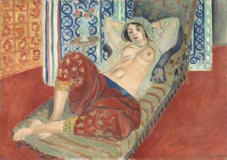 Henri Matisse, Odalisca con i pantaloni rossi, 1921, olio su tela, cm 65x90 (LUX.0.85 P) © Philippe Migeat - Centre Pompidou, MNAM-CCI/Dist. RMN-GP