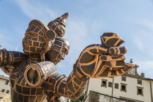 Zhang Huan, Three Heads Six Arms, Firenze, Forte Belvedere 2013. Foto: Guido Cozzi