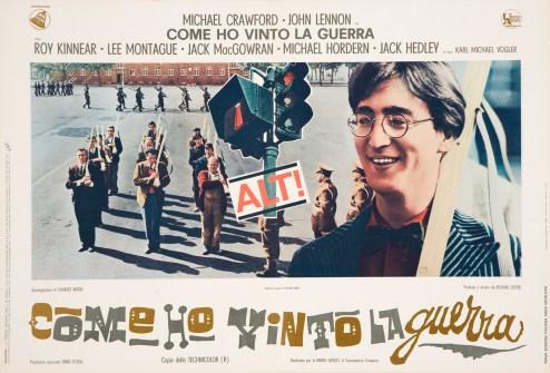 """""""Come ho vinto la guerra"""", locandina originale promozionale realizzata per la distribuzione del film in Italia, 1968, collezione privata Taormina/Franzoni"""