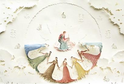 vanni Cuoghi, La danza dell'Unicorno, 2012, acquerello su carta, cm 75x110
