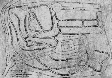 Planimetria di Villa Gaeta e del Pinetum, Moncioni, Montevarchi (AR)