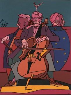 Valerio Adami, Trio, 1994, acrilico su tela, 198x147 cm