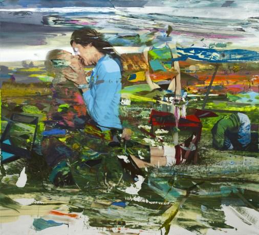 Giuseppe Gonella, Il filo delle ore, 2012 acrilico su tela, 200 x 220 cm