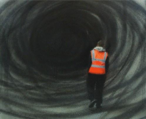 Eron, Senza titolo, 2009, pittura a spray su tela Courtesy Terna SpA