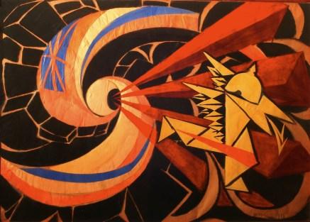 Giacomo Balla La Guerra (The War), 1916 olio e collage su cartone/oil and collage on cardboard 64x94 cm UniCredit Art Collection © Giacomo Balla, by SIAE 2013