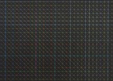 Tamás Jovánovics, '1cm series - Goldene Kreuzungen', 2012, colour pencil on paper, 21x29.7 cm