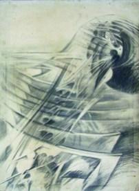 Renzo Bergamo, s.t., 1971, matita su tela, 50x70 cm (Astrarte)